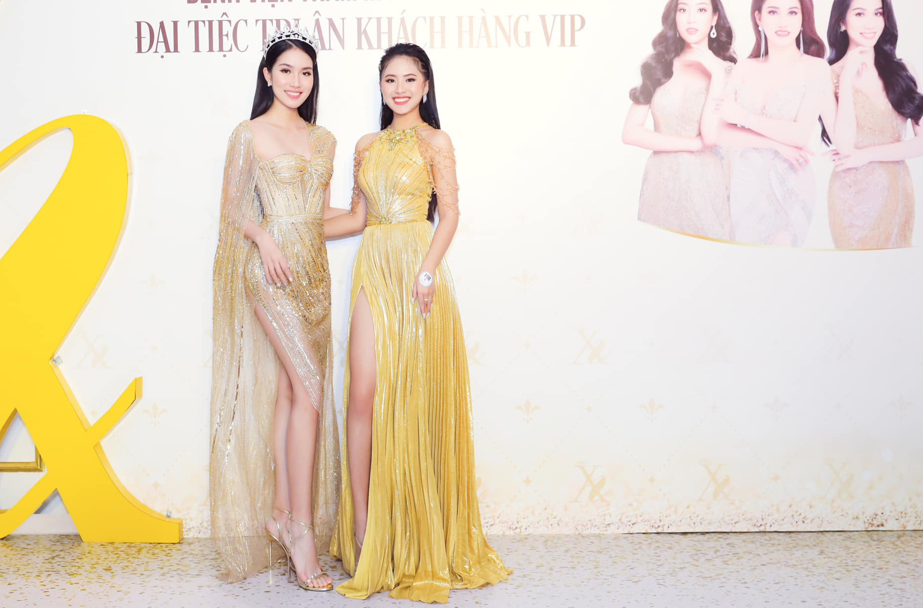 Người đẹp Thể thao Phù Bảo Nghi diện váy xẻ táo bạo, Lương Thùy Linh quấn khăn làm váy ảnh 6