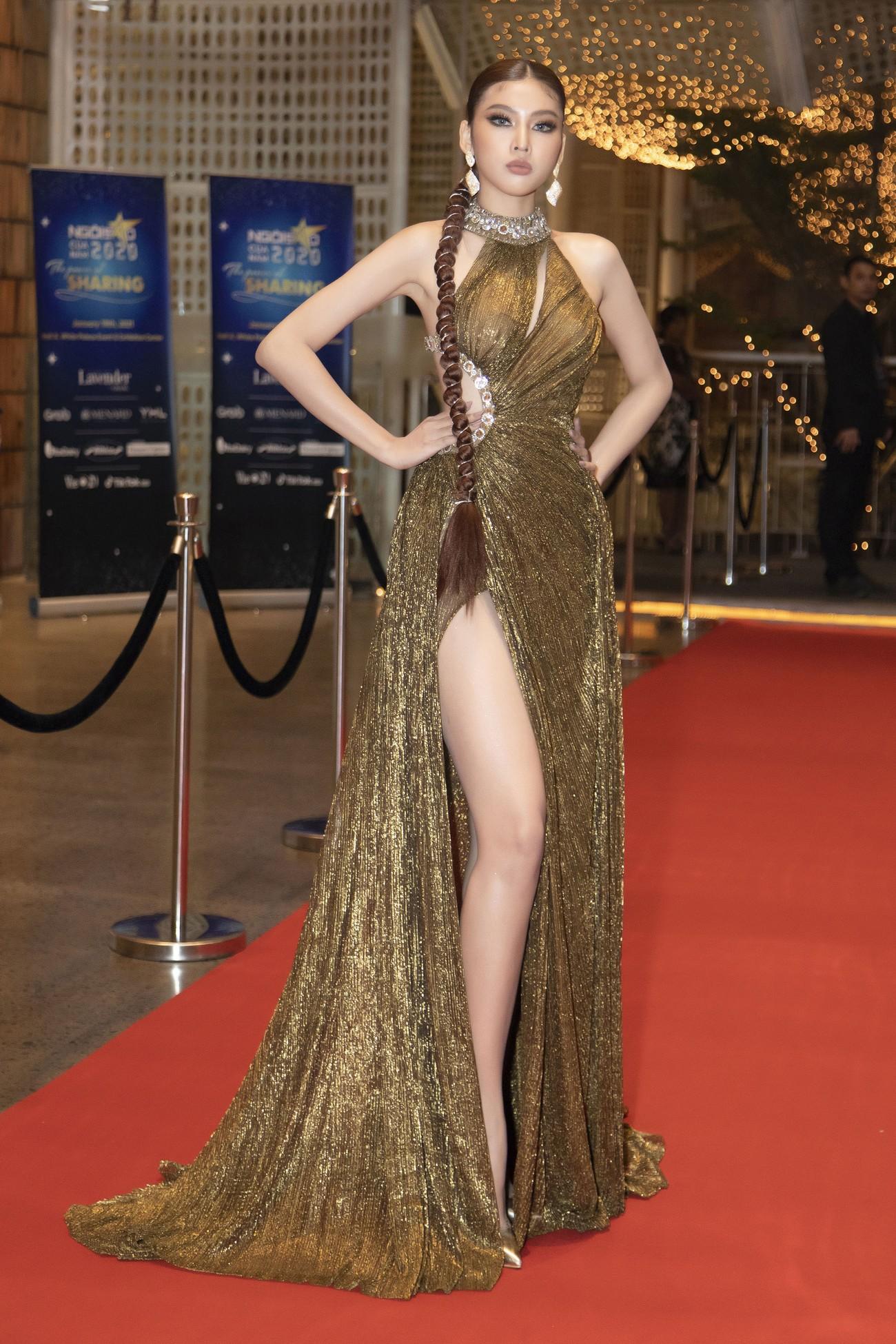 Top 3 Hoa hậu Việt Nam 2020 mặc váy cắt xẻ gợi cảm, đọ sắc Lương Thuỳ Linh-Kiều Loan ảnh 9