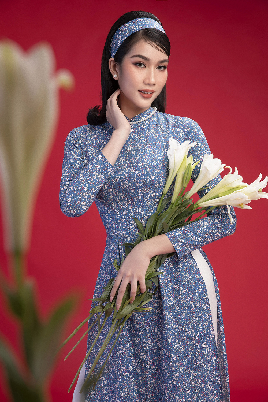 Diện áo dài Tết theo phong cách xưa, Top 3 HHVN 2020 đẹp như minh tinh thập niên 50 ảnh 5