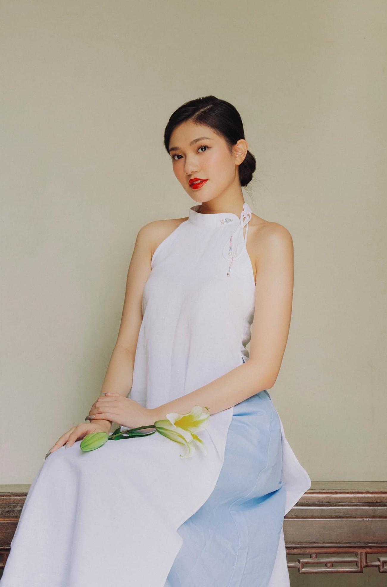 Dàn người đẹp của HHVN 2020 khoe nhan sắc đẹp hút hồn với áo dài Tết ảnh 13