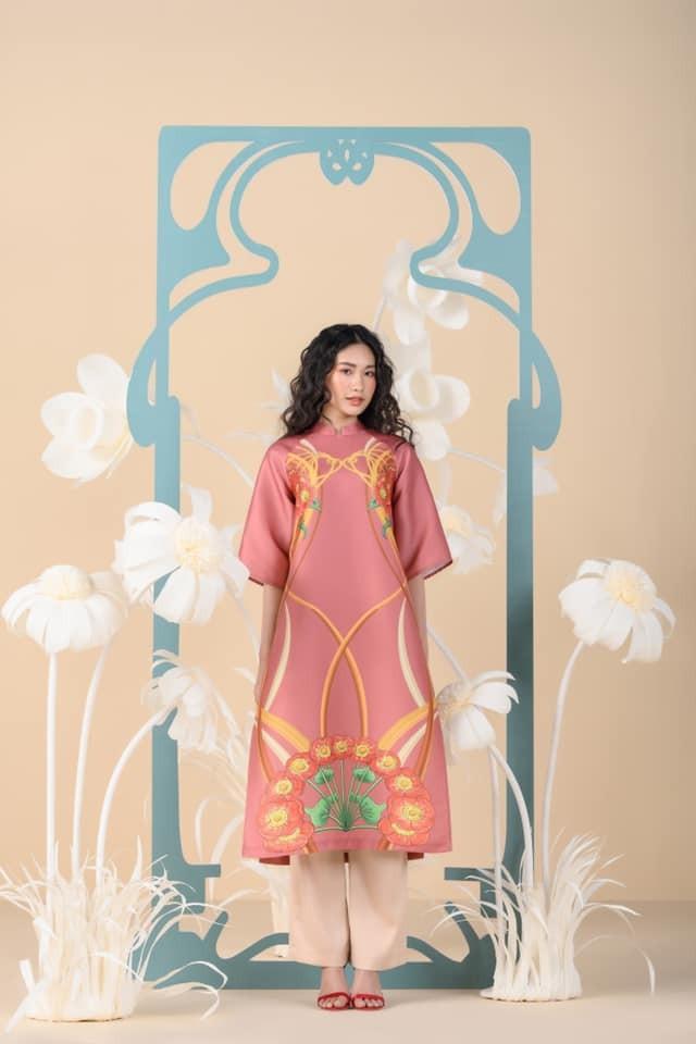 Dàn người đẹp của HHVN 2020 khoe nhan sắc đẹp hút hồn với áo dài Tết ảnh 3