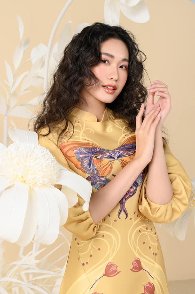 Dàn người đẹp của HHVN 2020 khoe nhan sắc đẹp hút hồn với áo dài Tết ảnh 2