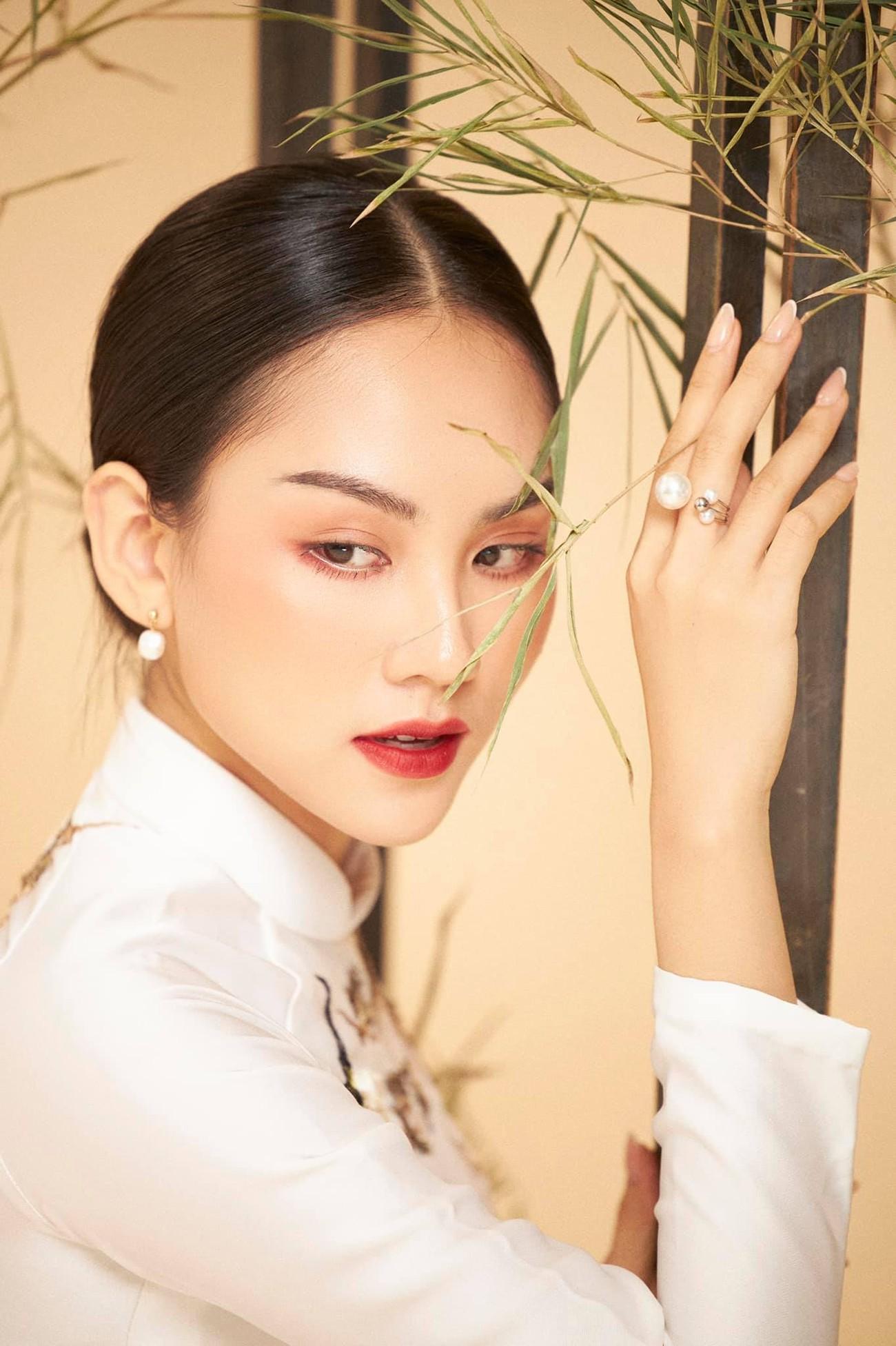 Dàn người đẹp của HHVN 2020 khoe nhan sắc đẹp hút hồn với áo dài Tết ảnh 6