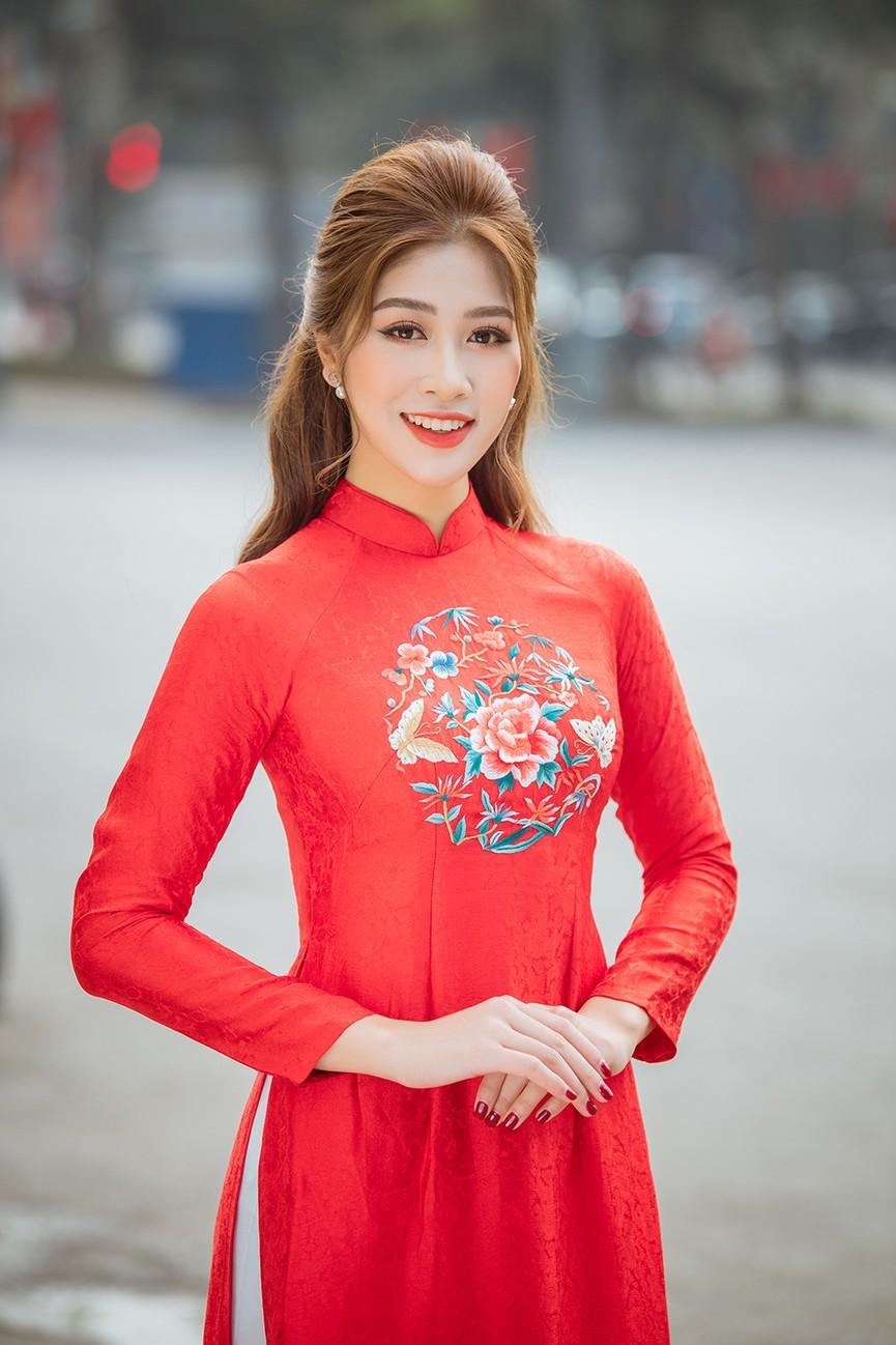 Dàn người đẹp của HHVN 2020 khoe nhan sắc đẹp hút hồn với áo dài Tết ảnh 10