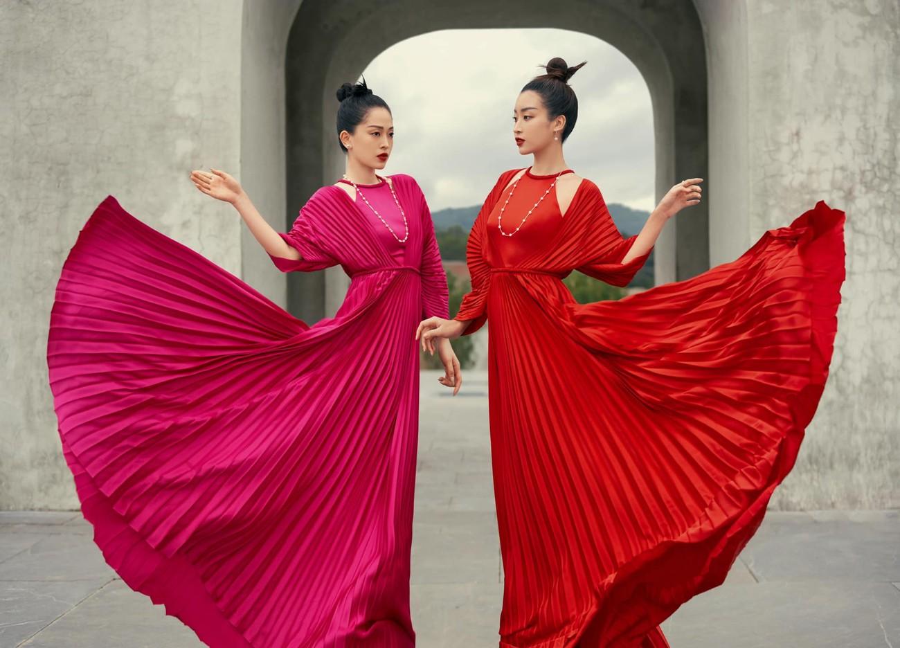 Á hậu Phương Anh khoe eo thon quyến rũ, Huyền My xinh đẹp trên phố với áo dài Tết đỏ rực ảnh 6