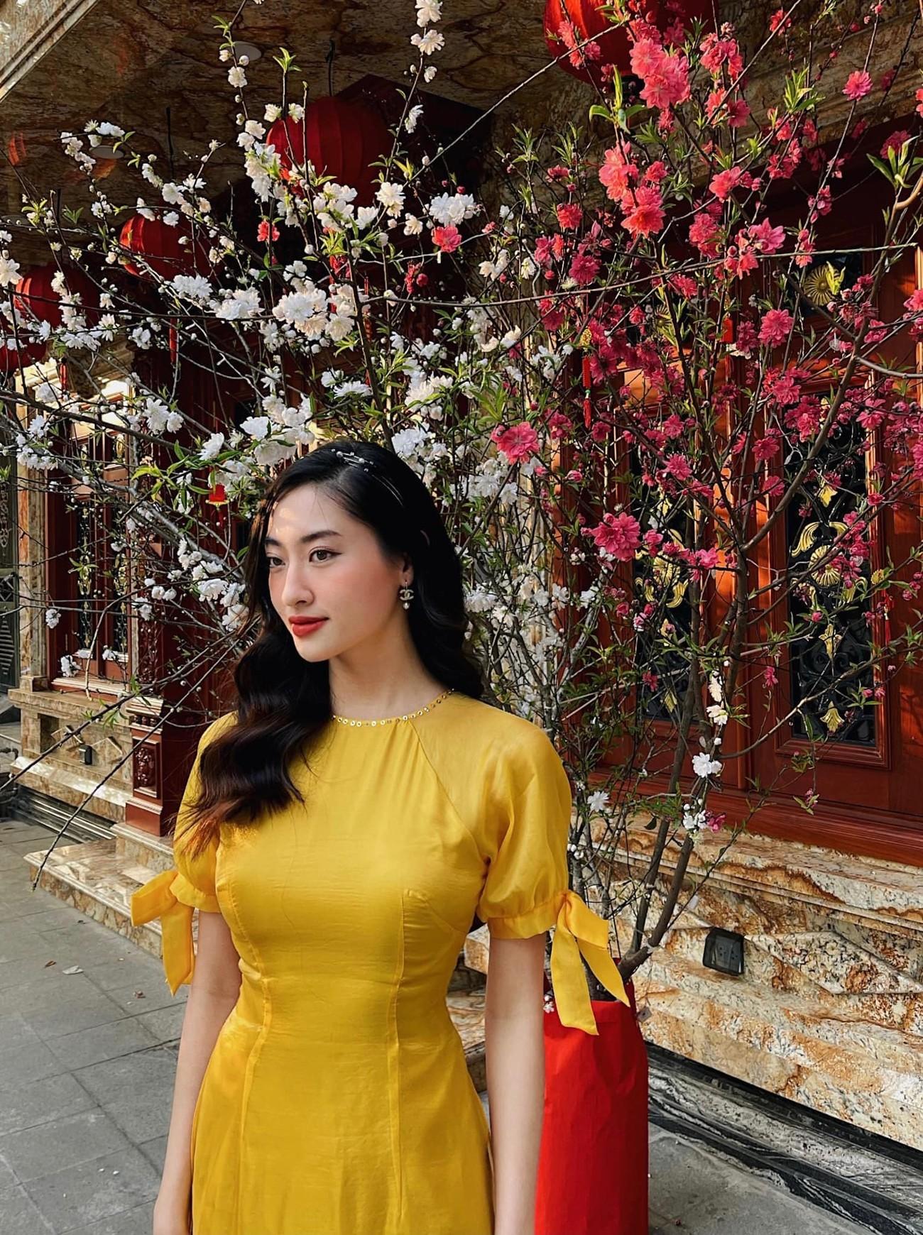 Hoa hậu Tiểu Vy khoe ảnh mẹ diện áo dài ngày mùng 1 Tết, fans trầm trồ vì nhan sắc trẻ đẹp ảnh 14