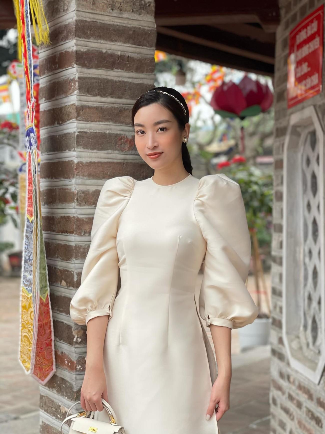 Hoa hậu Tiểu Vy khoe ảnh mẹ diện áo dài ngày mùng 1 Tết, fans trầm trồ vì nhan sắc trẻ đẹp ảnh 5