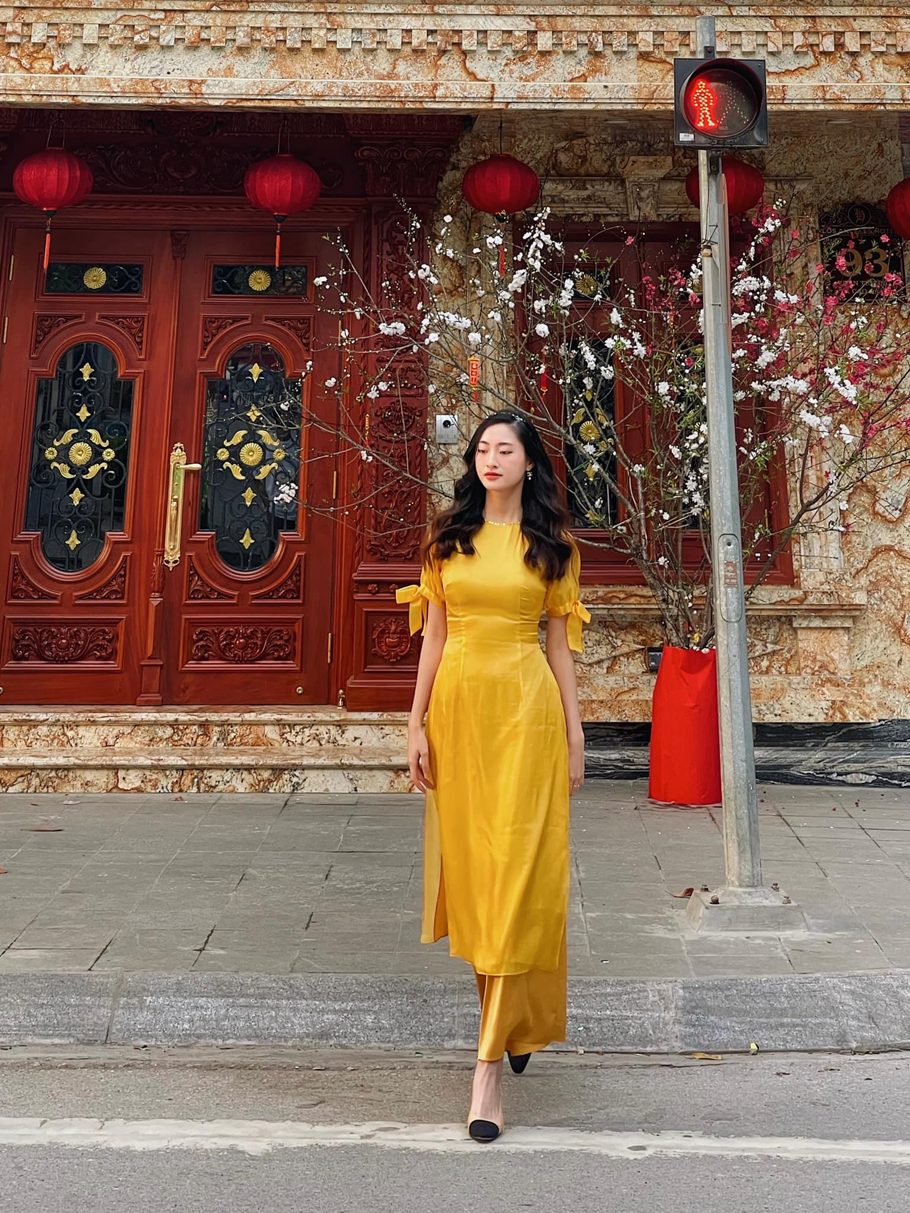 Hoa hậu Tiểu Vy khoe ảnh mẹ diện áo dài ngày mùng 1 Tết, fans trầm trồ vì nhan sắc trẻ đẹp ảnh 13