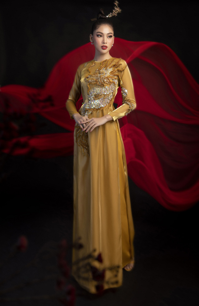 Gam màu vàng sang chảnh đích thị là màu 'phong thuỷ' của Á hậu Ngọc Thảo ở Miss Grand 2021 ảnh 11