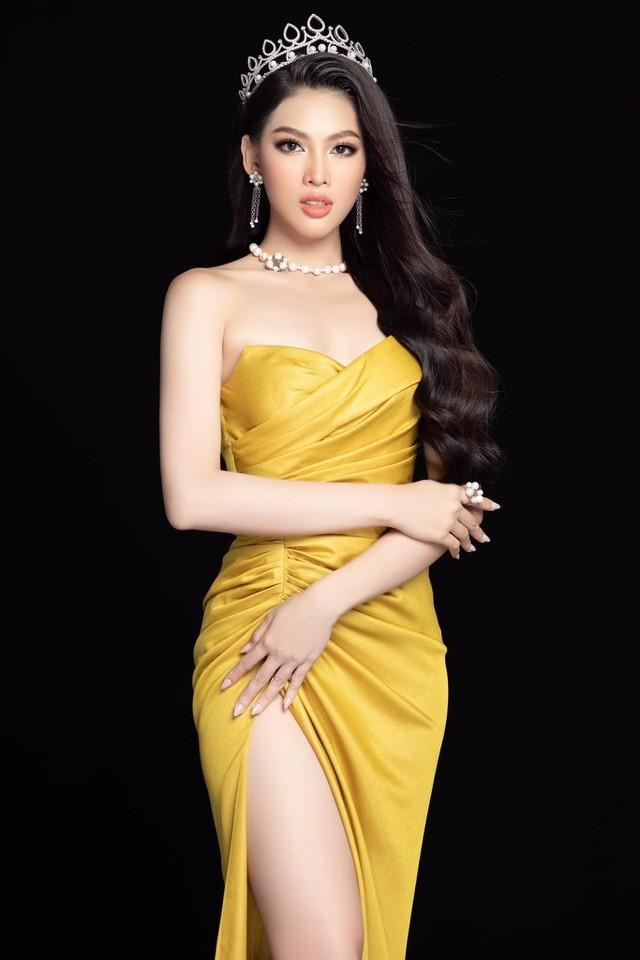 Gam màu vàng sang chảnh đích thị là màu 'phong thuỷ' của Á hậu Ngọc Thảo ở Miss Grand 2021 ảnh 2