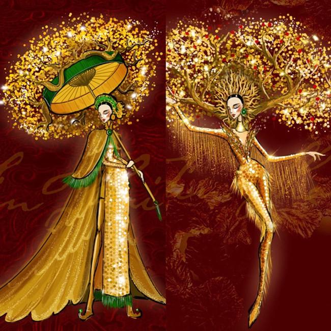 Gam màu vàng sang chảnh đích thị là màu 'phong thuỷ' của Á hậu Ngọc Thảo ở Miss Grand 2021 ảnh 13