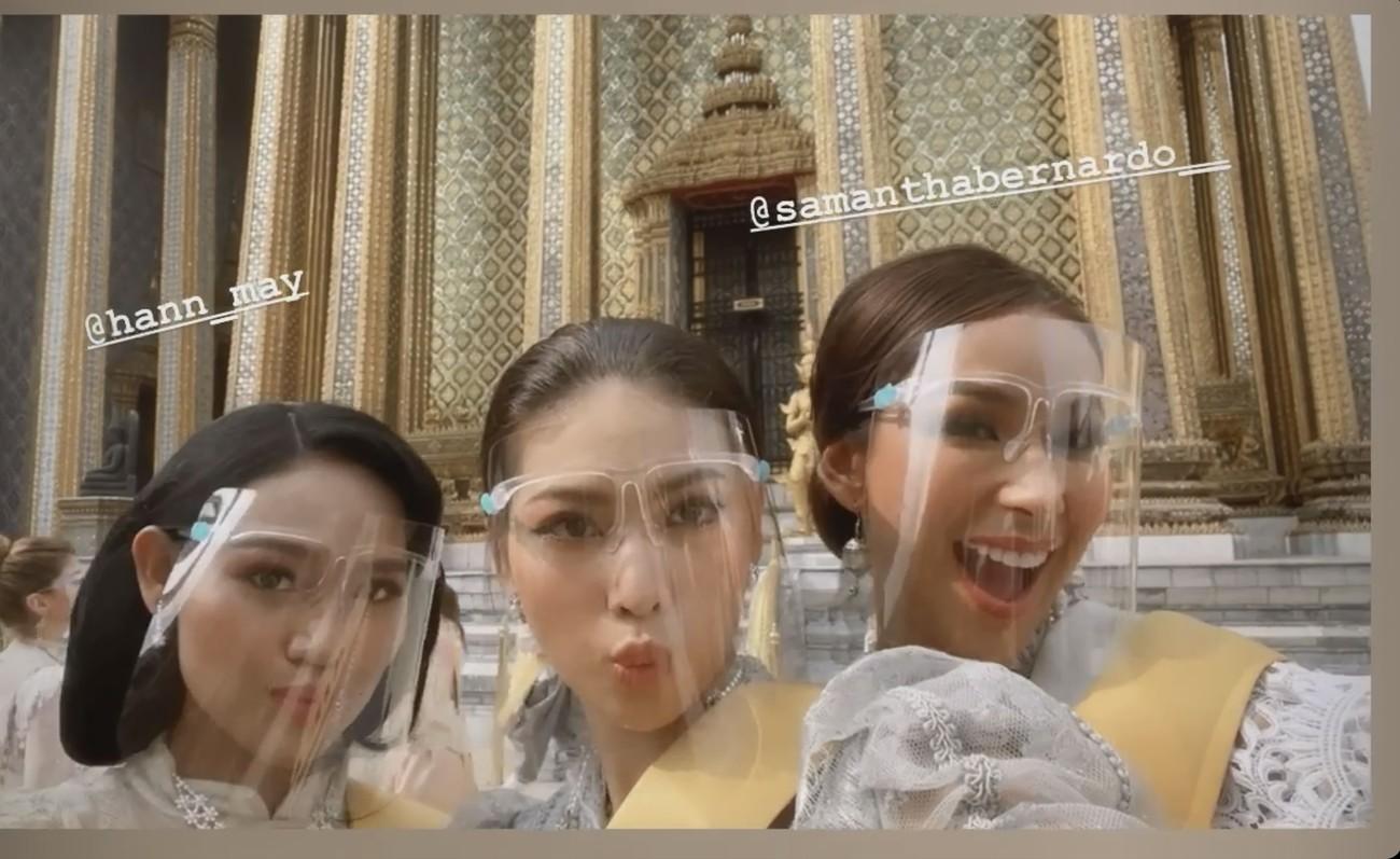 Ngày thứ 3 ở Miss Grand, Ngọc Thảo hoá gái Thái xinh đẹp đi vãn cảnh chùa Vàng ảnh 8
