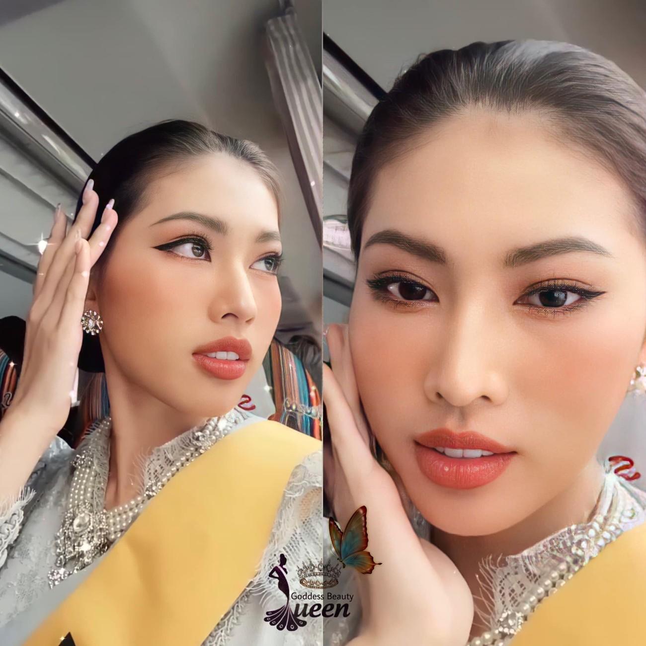 Ngày thứ 3 ở Miss Grand, Ngọc Thảo hoá gái Thái xinh đẹp đi vãn cảnh chùa Vàng ảnh 3