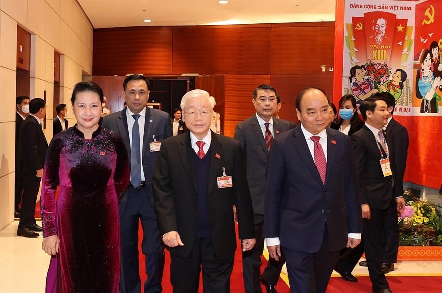 Tổng Bí thư, Chủ tịch nước cùng các đại biểu trong phiên họp trù bị Đại hội XIII của Đảng ảnh 1