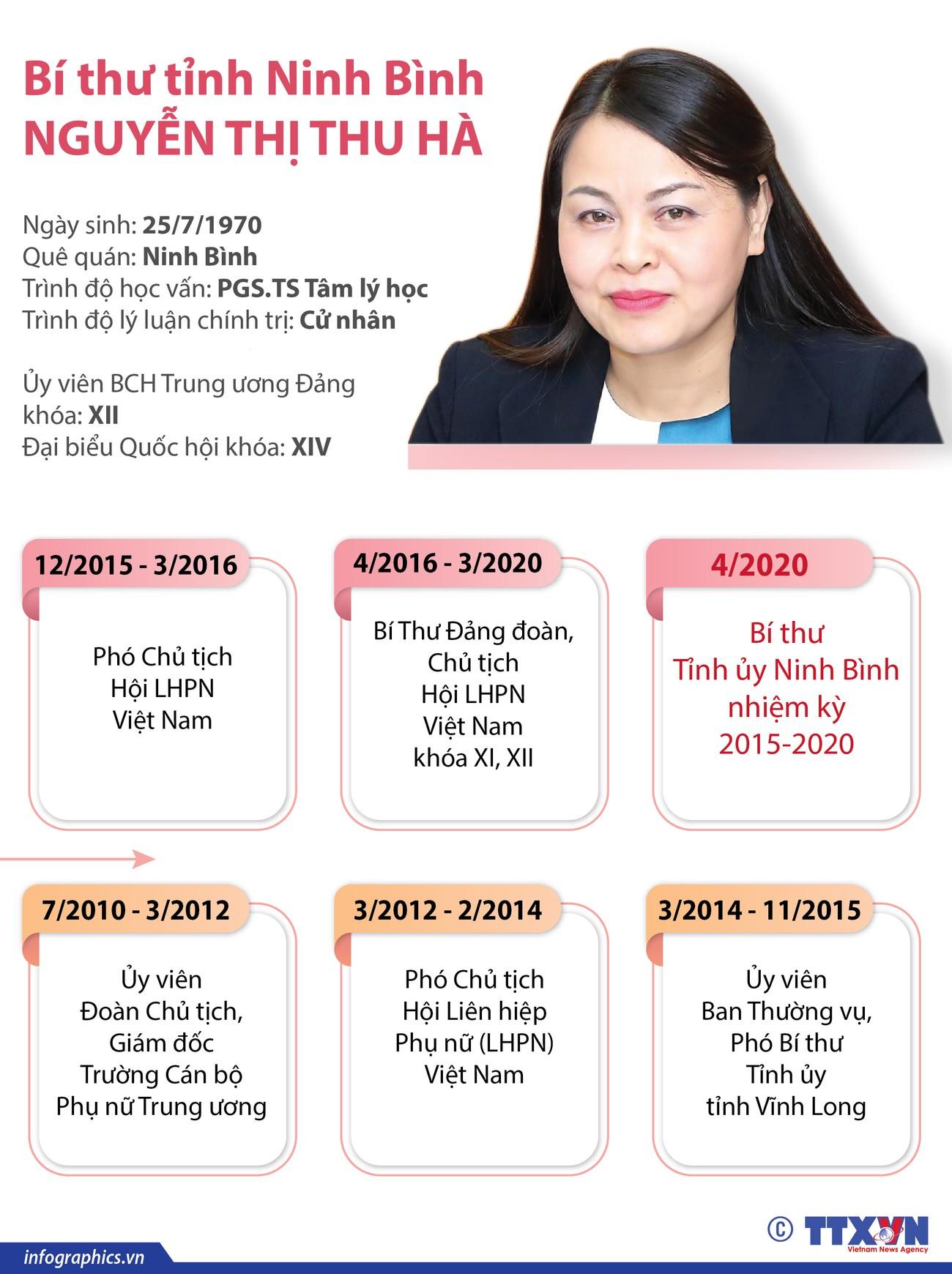 Chân dung tân Bí thư tỉnh Ninh Bình Nguyễn Thị Thu Hà ảnh 1