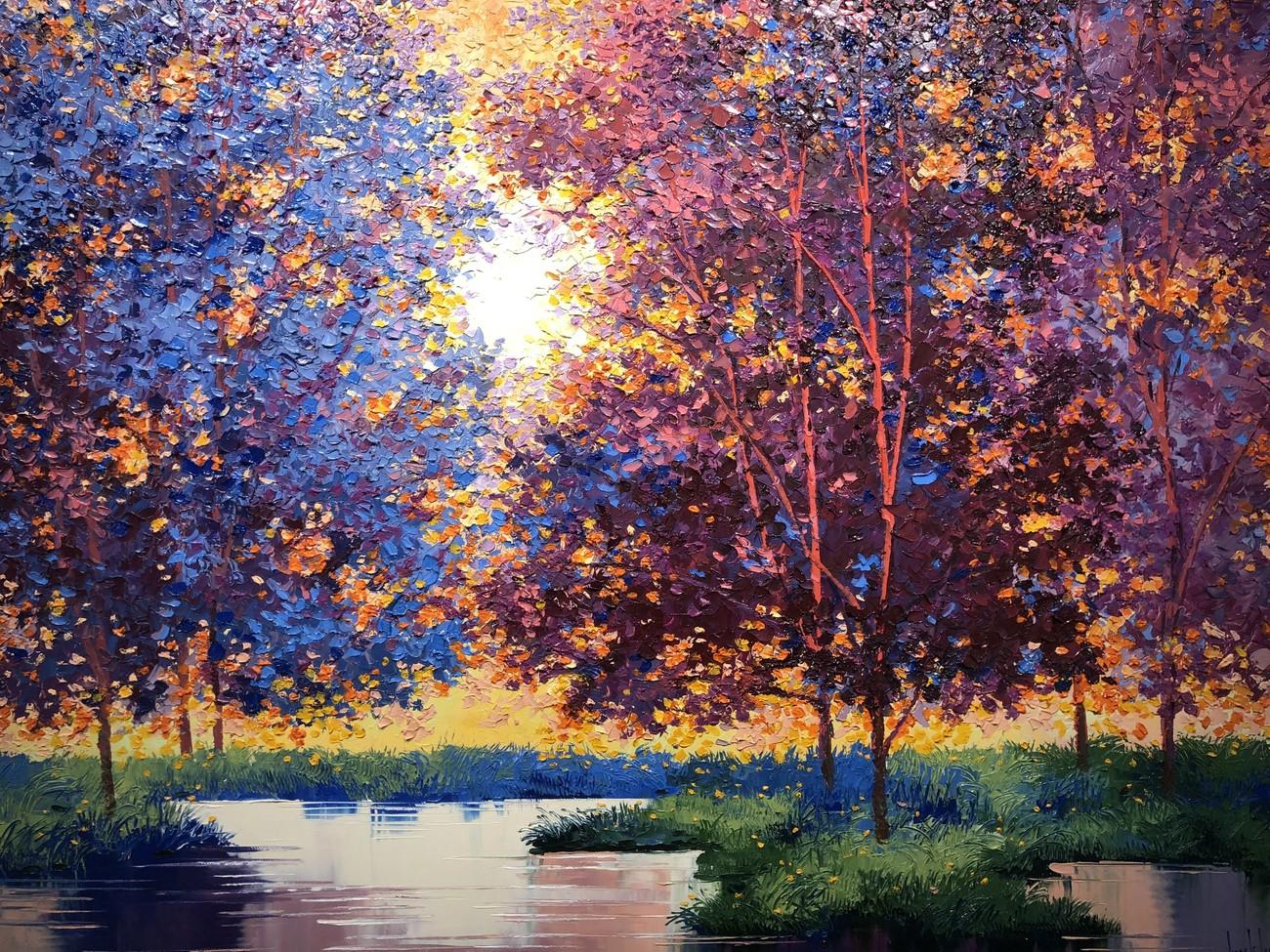 """Đắm chìm trong những bức họa thiên nhiên tại triển lãm """"Sức Sống Mộc Nhiên"""" ảnh 5"""