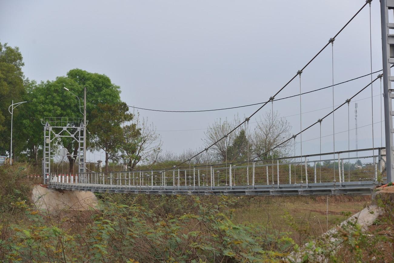 Cây cầu treo độc đáo trên đường chạy Tiền Phong Marathon 2021 ảnh 1