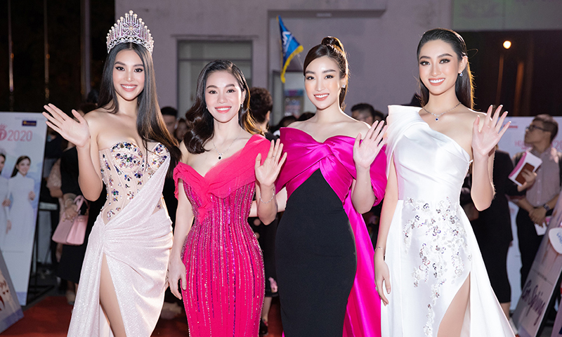 Hoa hậu Tiểu Vy cùng dàn người đẹp khoe sắc trên thảm đỏ Bán kết Hoa Hậu Việt Nam 2020 ảnh 1