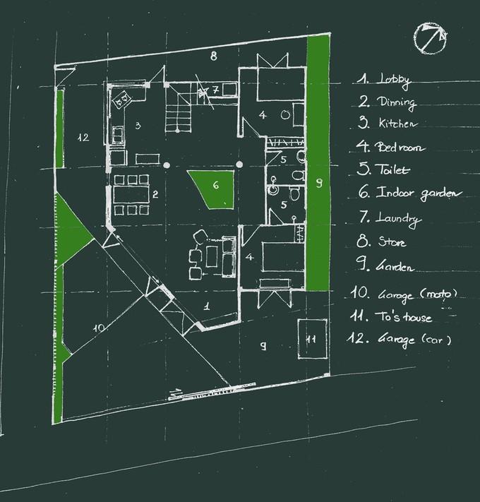 Cận cảnh ngôi nhà giấu kín tầng 2 dưới lớp mái dốc ở Đà Lạt ảnh 10