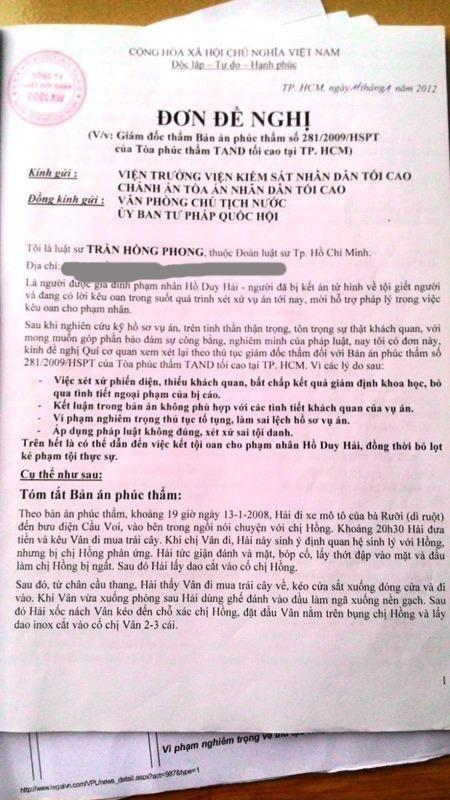 Vụ án tử tù Hồ Duy Hải: Hồi hộp chờ kết quả giám đốc thẩm ảnh 11