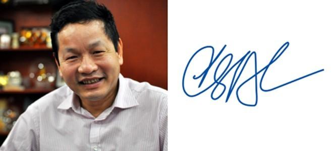 Những người giàu nhất Việt Nam ký tên như thế nào? ảnh 6