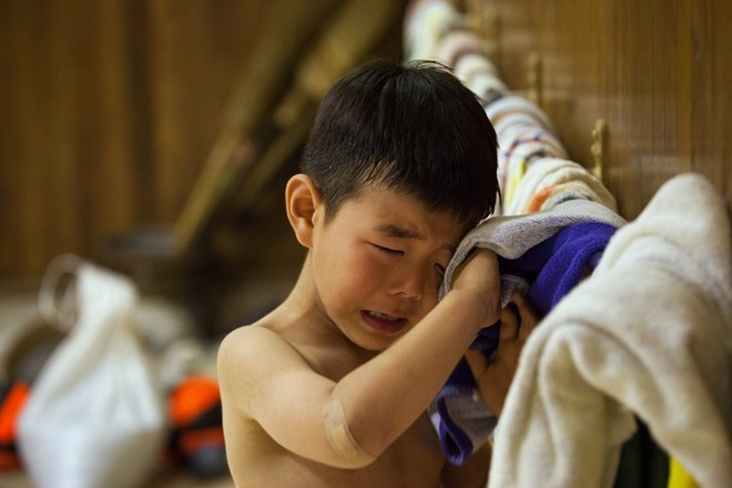 Một ngày khổ luyện của các võ sĩ sumo nhí Nhật Bản ảnh 12