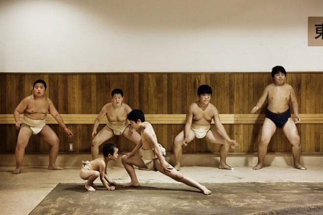 Một ngày khổ luyện của các võ sĩ sumo nhí Nhật Bản ảnh 7