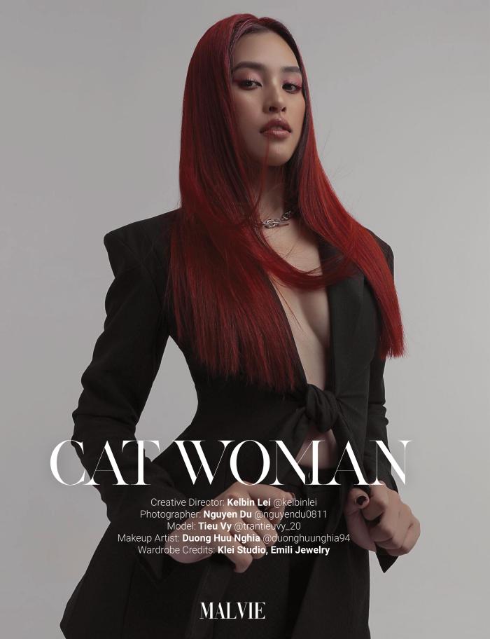 Hoa hậu Tiểu Vy bất ngờ xuất hiện trên bìa tạp chí Pháp với phong cách của một miêu nữ ảnh 4