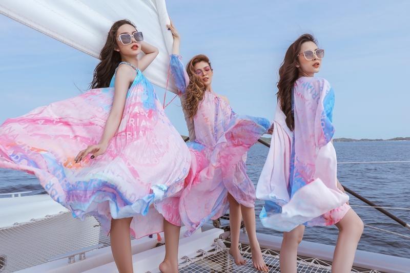 Hoa hậu chuyển giới Trân Đài cùng 2 Á hậu gợi ý trang phục đi biển đầy quyến rũ ảnh 1