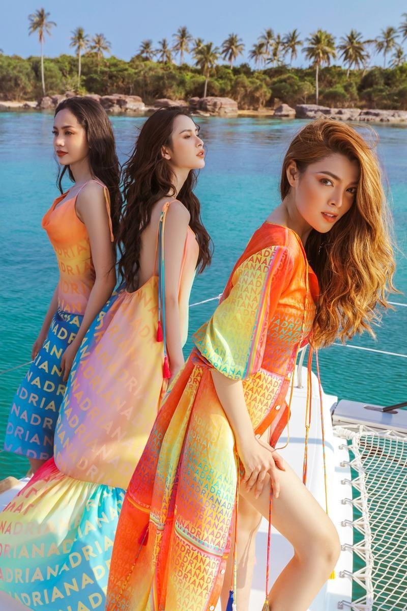 Hoa hậu chuyển giới Trân Đài cùng 2 Á hậu gợi ý trang phục đi biển đầy quyến rũ ảnh 5