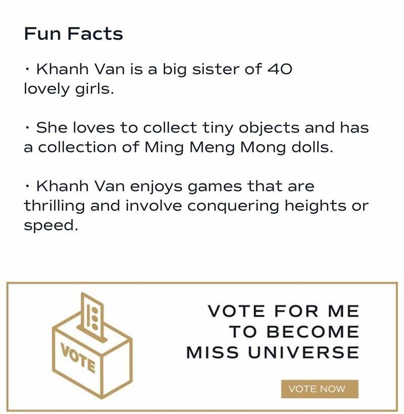 Hoa hậu Khánh Vân xuất hiện trên app Miss Universe, netizen Việt giờ đã có thể vào vote ảnh 3