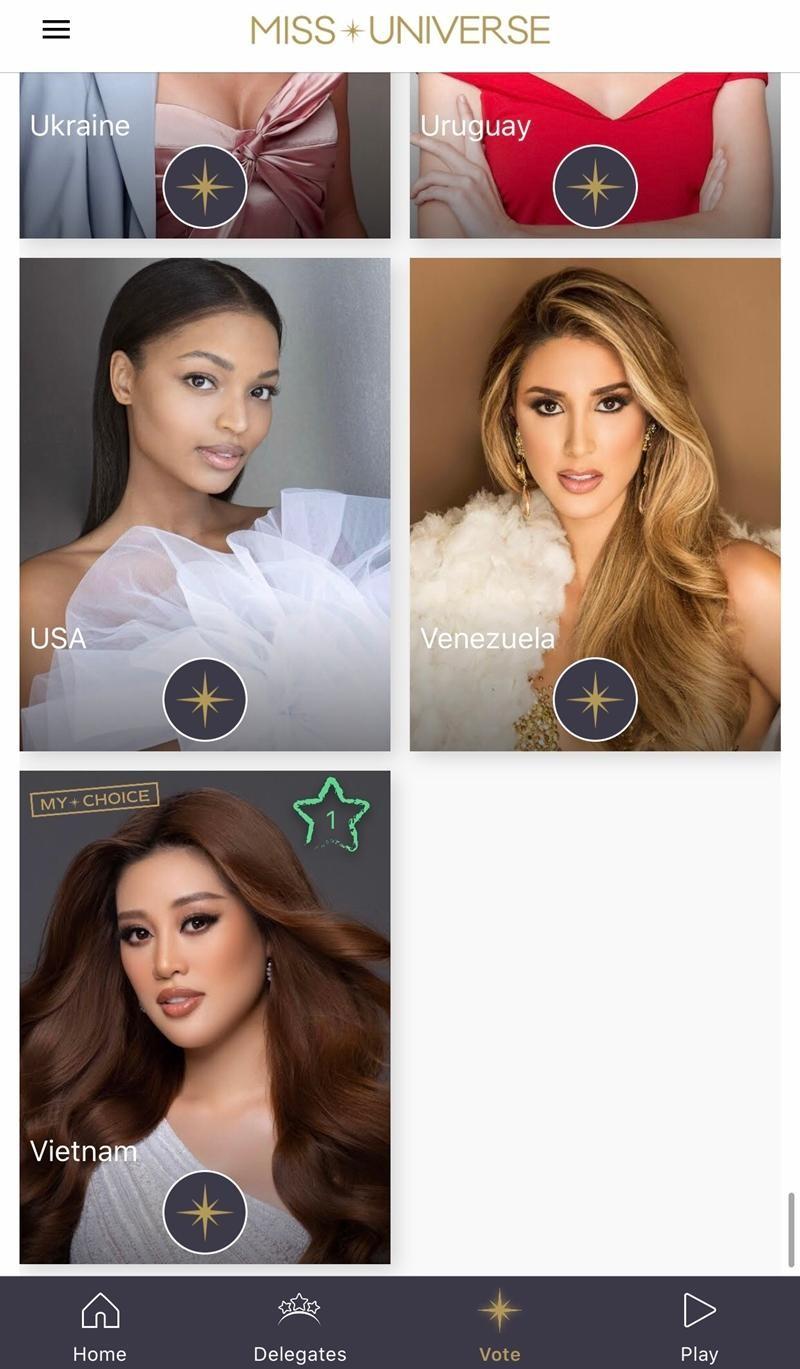 Hoa hậu Khánh Vân xuất hiện trên app Miss Universe, netizen Việt giờ đã có thể vào vote ảnh 4