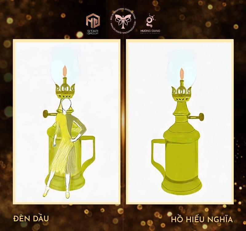 """Ý tưởng quốc phục cực """"bá đạo"""" cho Hoa hậu Trân Đài, sốc nhất là thiết kế """"Cầu Tõm"""" ảnh 7"""