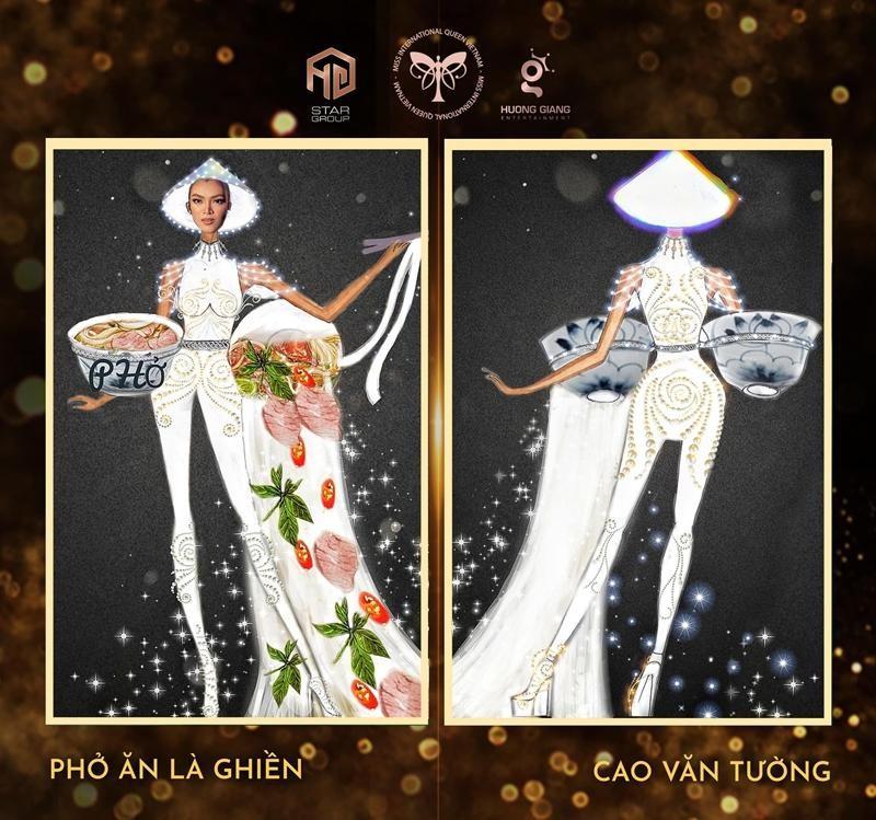 """Ý tưởng quốc phục cực """"bá đạo"""" cho Hoa hậu Trân Đài, sốc nhất là thiết kế """"Cầu Tõm"""" ảnh 4"""