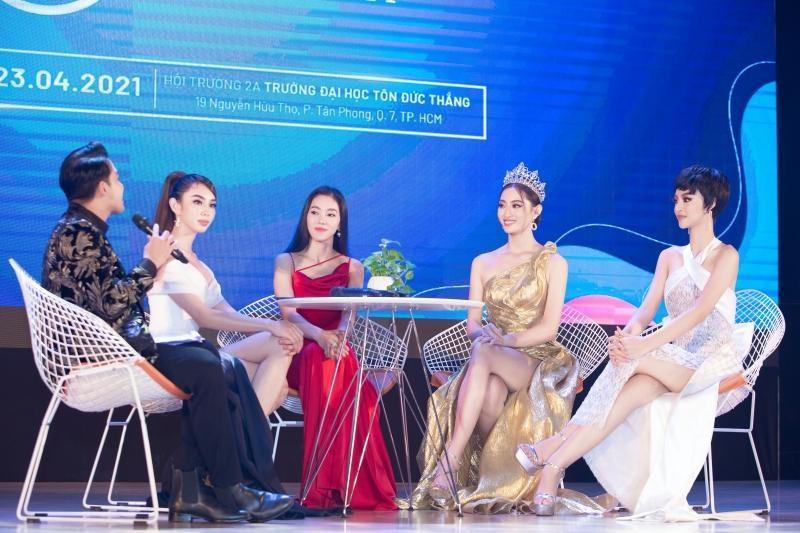 """Hoa hậu Lương Thùy Linh khoe visual chuẩn """"nữ thần"""", chiêu mộ không ít thí sinh Miss World ảnh 1"""