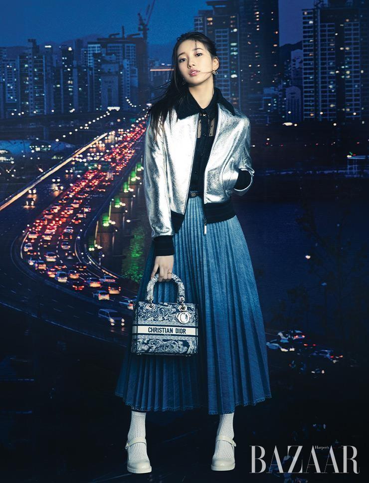 Mặc thiết kế được lấy cảm hứng từ Jisoo BLACKPINK, đại sứ thương hiệu Suzy trông thế nào? ảnh 1