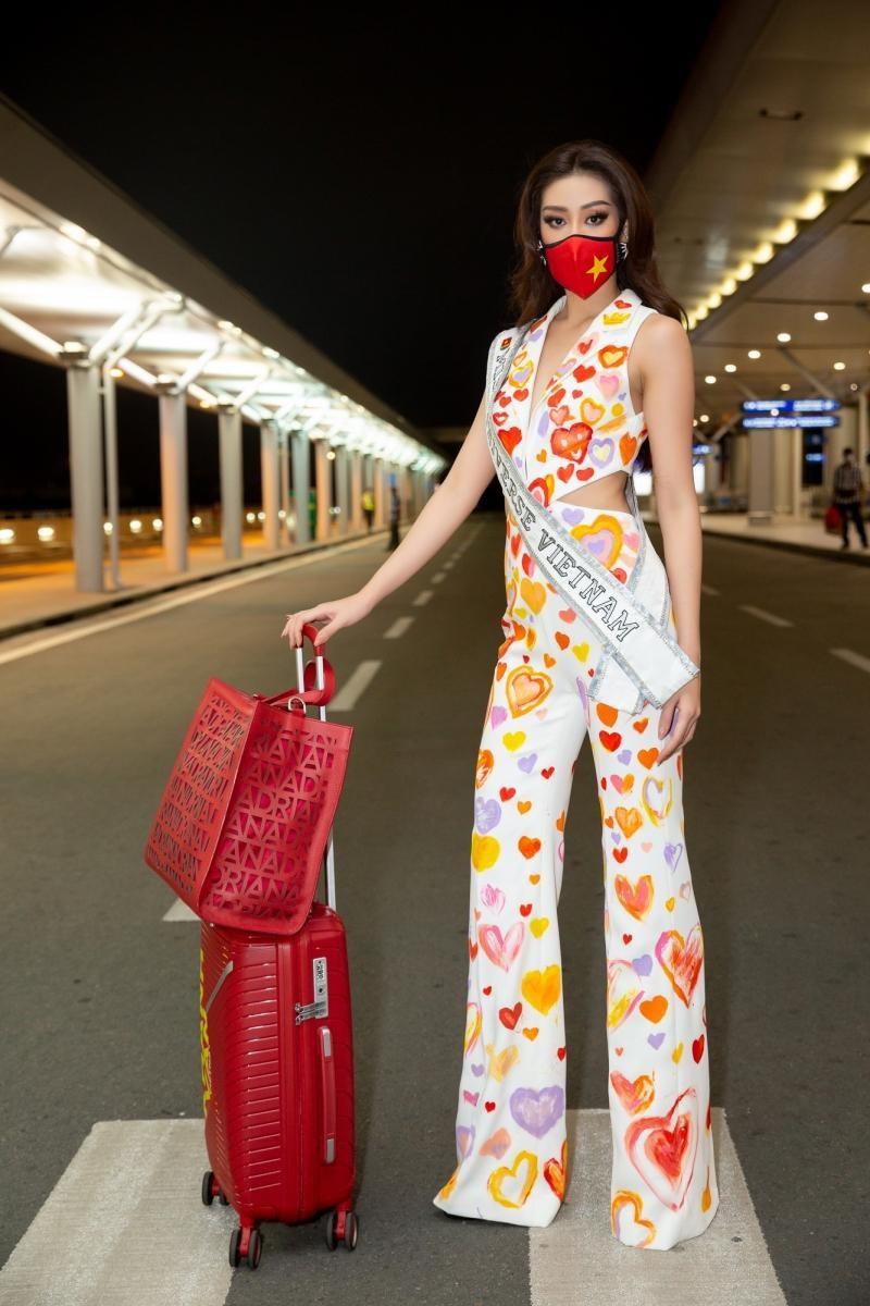 Hoa hậu Khánh Vân diện bộ trang phục ý nghĩa, lên đường sang Mỹ tham dự Miss Universe 2020 ảnh 6