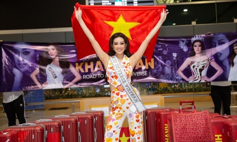 Hoa hậu Khánh Vân diện bộ trang phục ý nghĩa, lên đường sang Mỹ tham dự Miss Universe 2020 ảnh 3