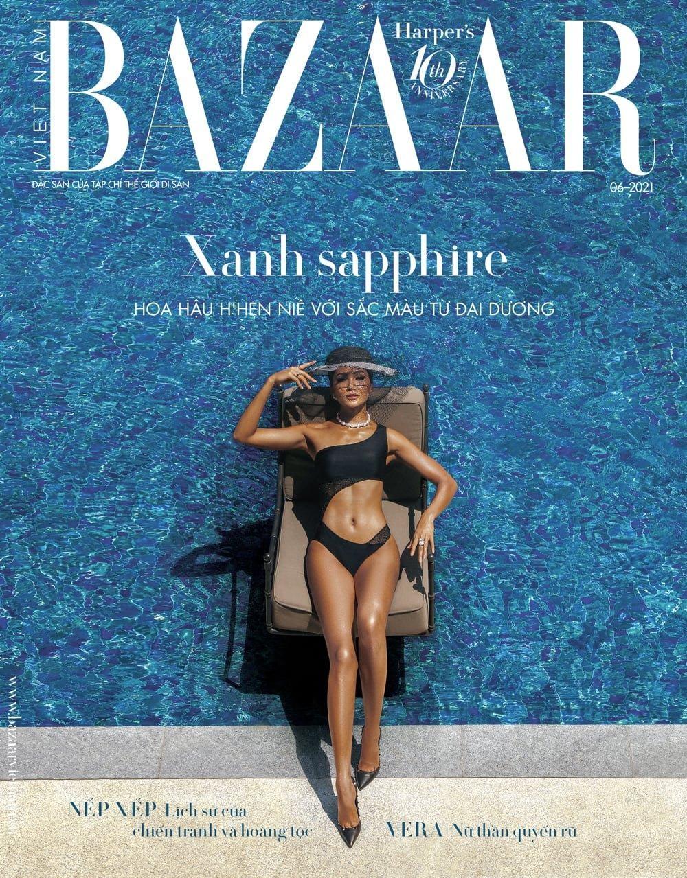 Hoa hậu H'Hen Niê mặc đồ bơi đẹp như siêu mẫu quốc tế trên bìa tạp chí thời trang đình đám ảnh 3