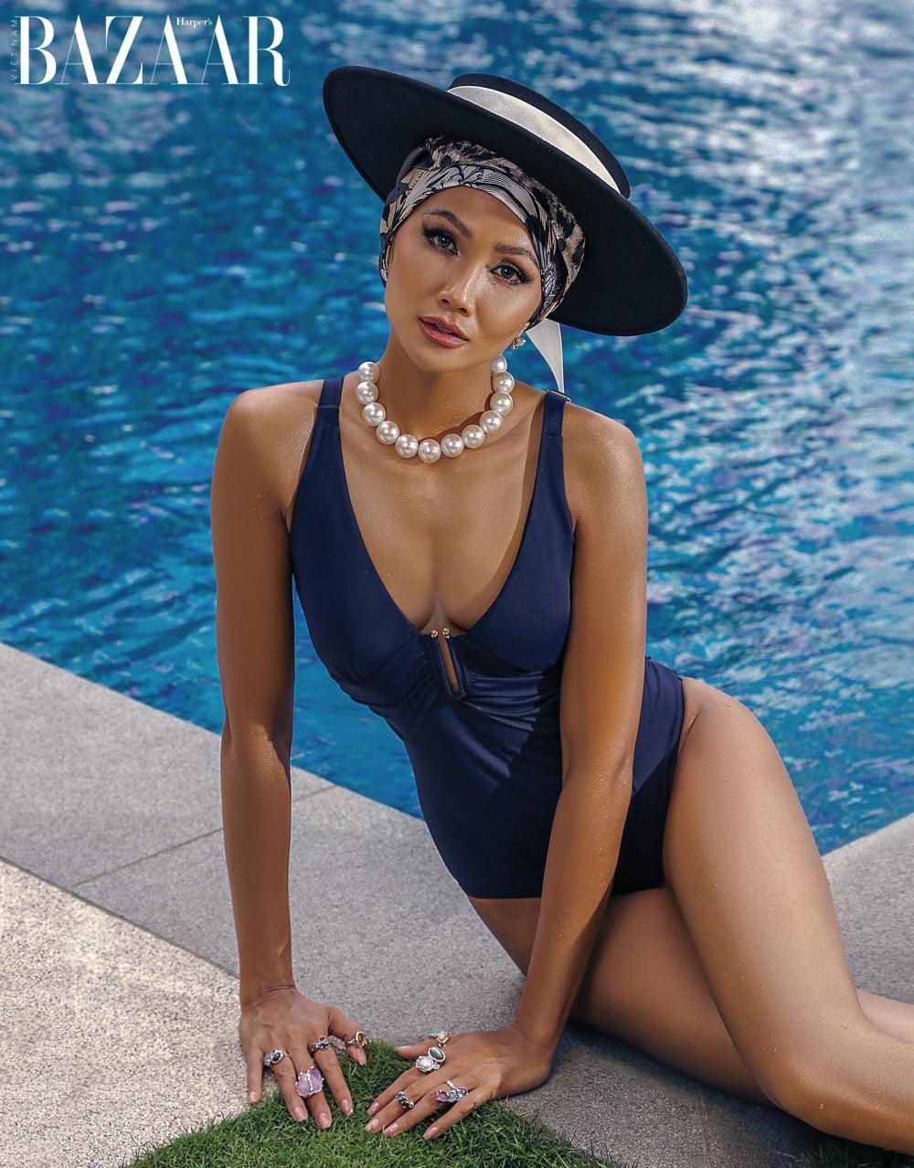 Hoa hậu H'Hen Niê mặc đồ bơi đẹp như siêu mẫu quốc tế trên bìa tạp chí thời trang đình đám ảnh 5