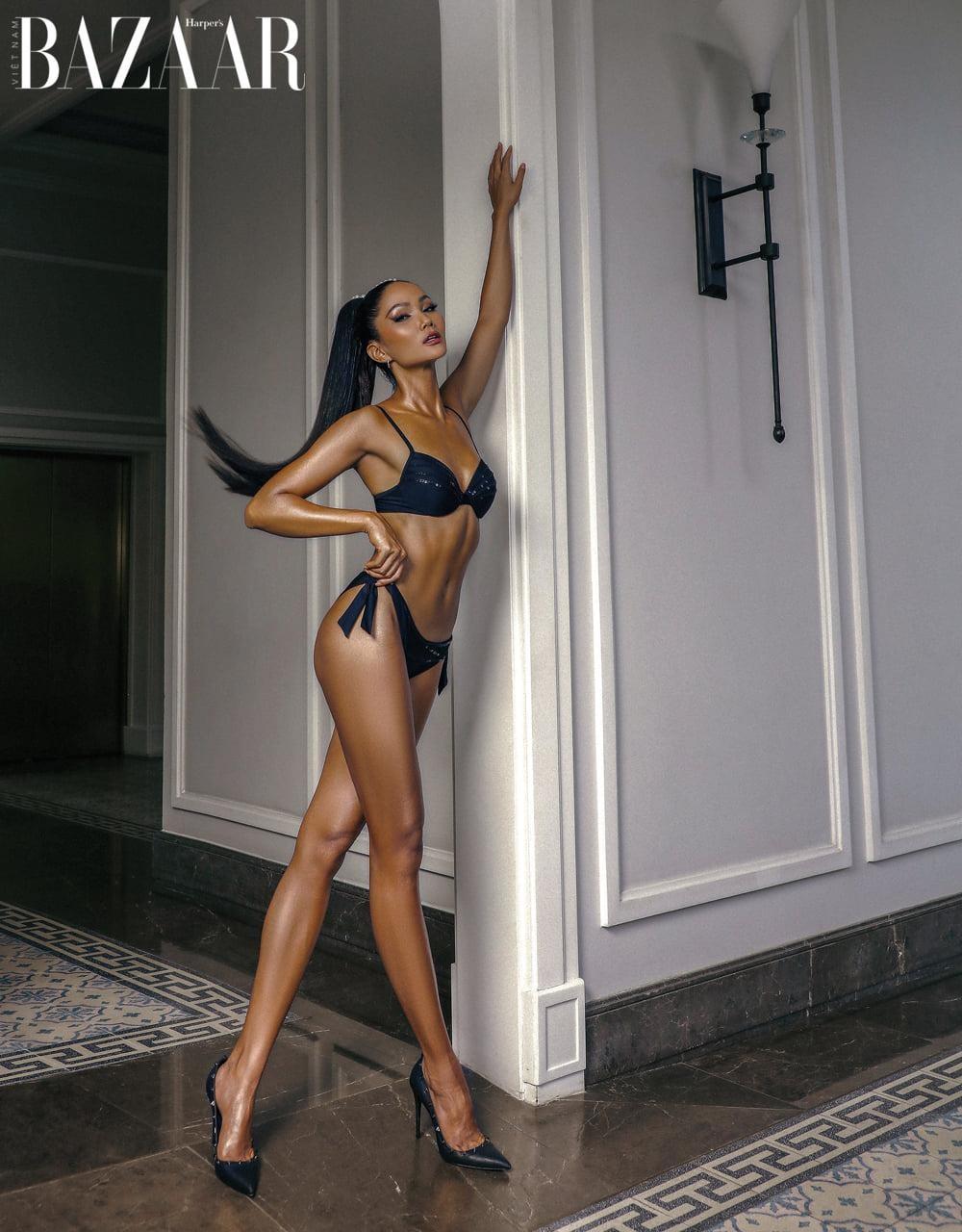 Hoa hậu H'Hen Niê mặc đồ bơi đẹp như siêu mẫu quốc tế trên bìa tạp chí thời trang đình đám ảnh 1