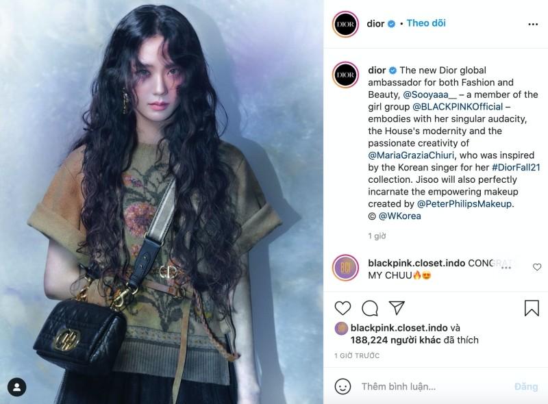 Dior tiếp tục tiết lộ các thiết kế lấy cảm hứng từ Jisoo, netizen tấm tắc khen chuẩn ảnh 1
