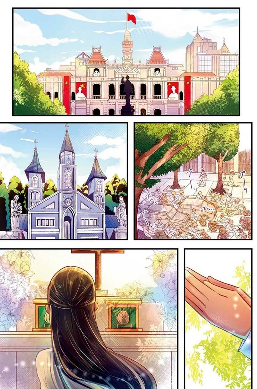"""Ngắm những địa danh thân thuộc của Việt Nam qua bộ truyện tranh Nhật Bản """"Little Lotus"""" ảnh 2"""