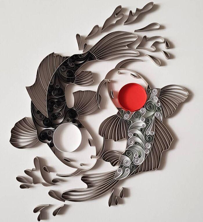 Ngắm những bức tranh giấy xoắn đẹp mê hồn dưới bàn tay nghệ sĩ Bulgaria ảnh 3