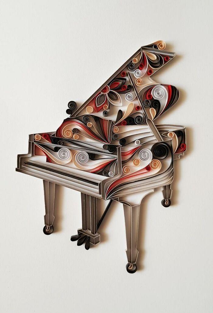 Ngắm những bức tranh giấy xoắn đẹp mê hồn dưới bàn tay nghệ sĩ Bulgaria ảnh 32
