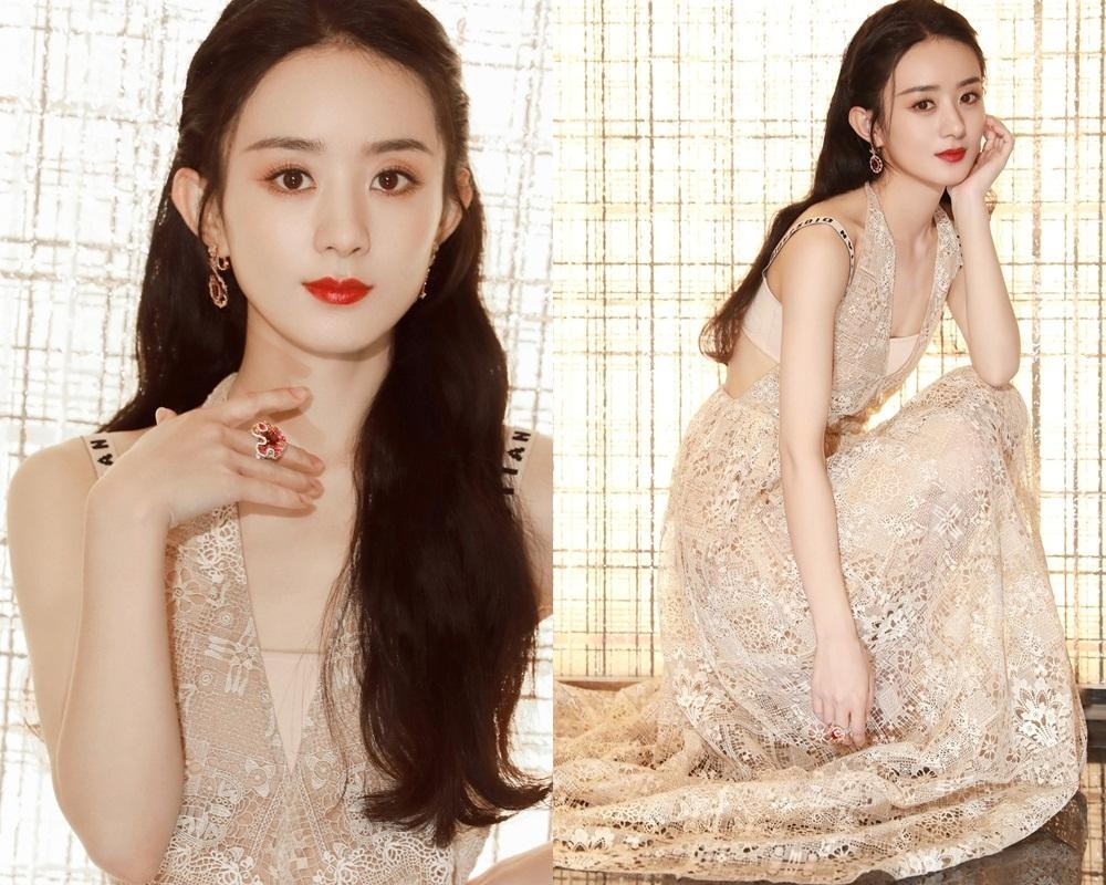 """Lai lịch khó ngờ của bộ váy lộng lẫy giúp Triệu Lệ Dĩnh thành """"Nữ hoàng đêm hội Bazaar"""" ảnh 2"""