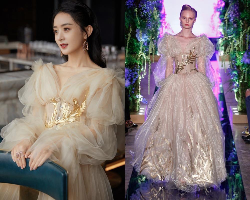 """Lai lịch khó ngờ của bộ váy lộng lẫy giúp Triệu Lệ Dĩnh thành """"Nữ hoàng đêm hội Bazaar"""" ảnh 8"""