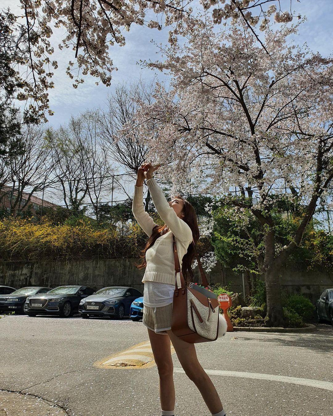 Dàn mỹ nhân K-Pop ngắm hoa anh đào: Jennie (BLACKPINK) nổi nhất nhờ trang phục thời thượng ảnh 1