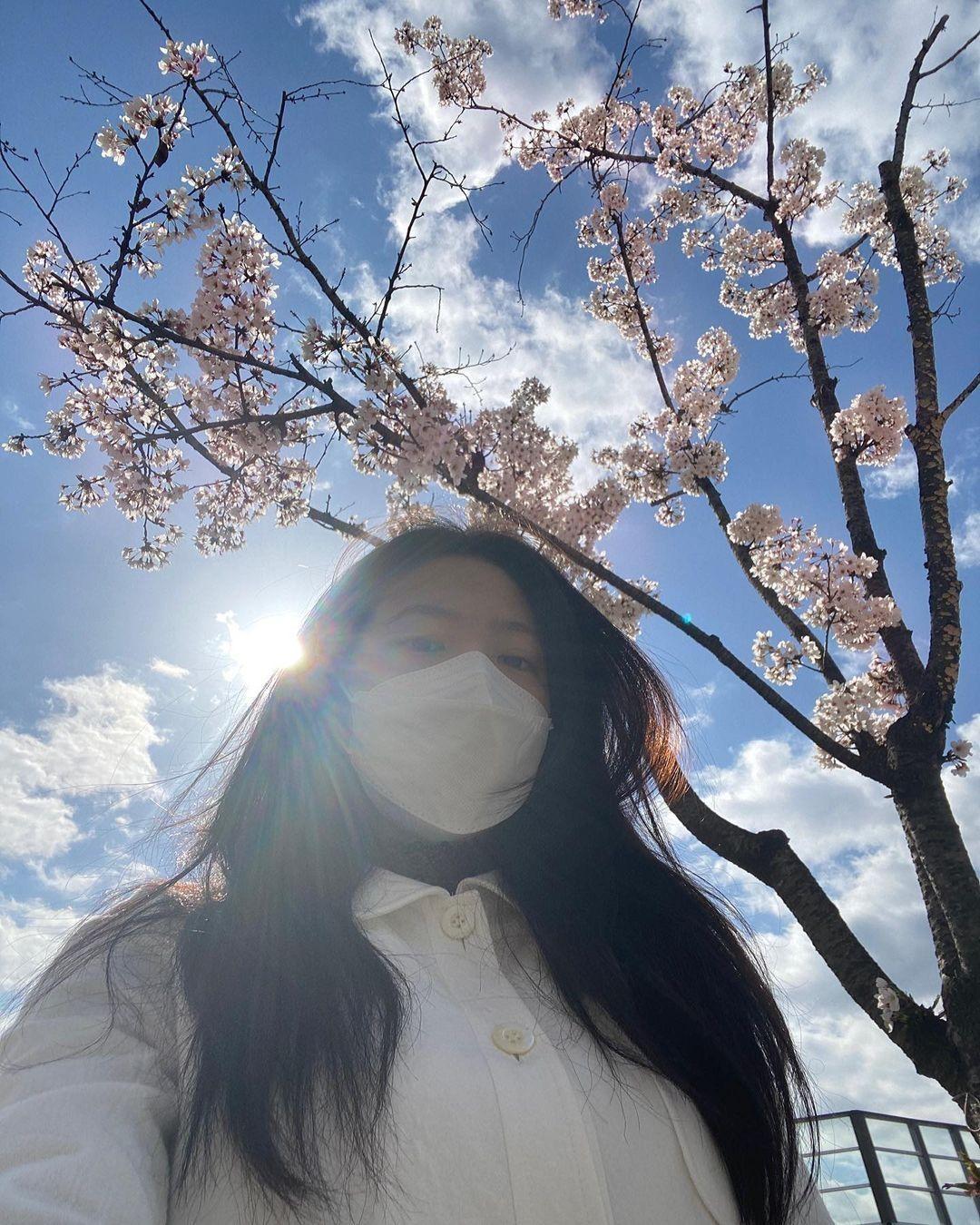 Dàn mỹ nhân K-Pop ngắm hoa anh đào: Jennie (BLACKPINK) nổi nhất nhờ trang phục thời thượng ảnh 2