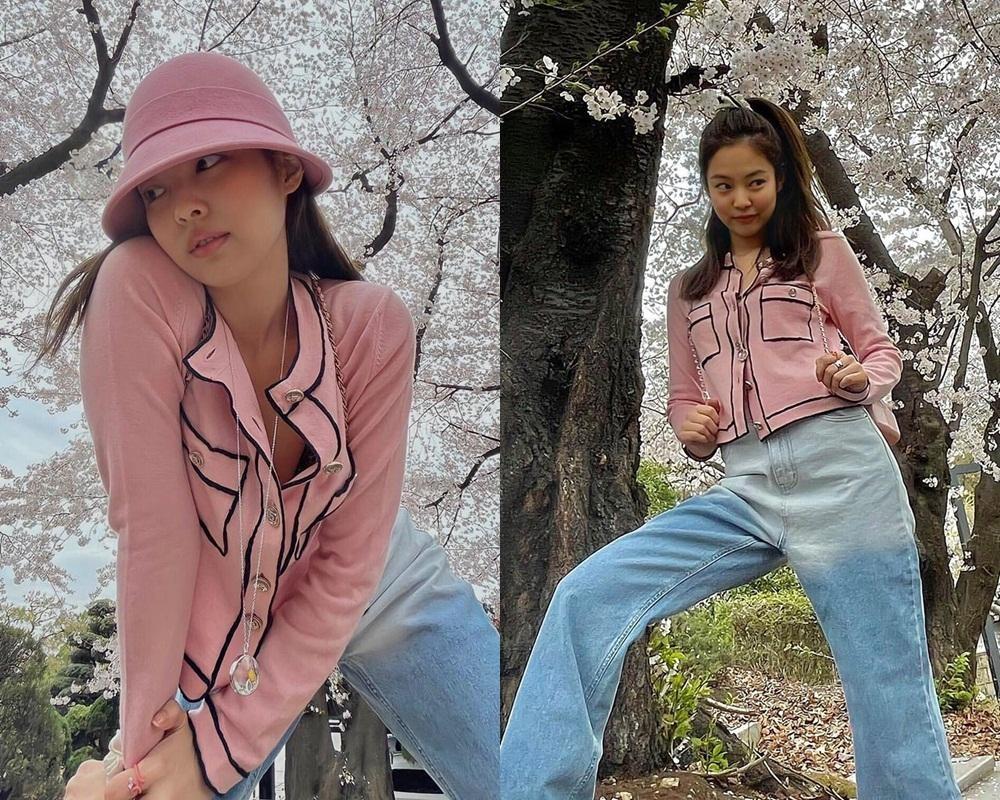 Dàn mỹ nhân K-Pop ngắm hoa anh đào: Jennie (BLACKPINK) nổi nhất nhờ trang phục thời thượng ảnh 9